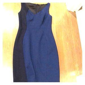 Tahari Women's size 8 navy & royal blue Dress